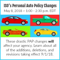 ISO's Personal Auto Policy Changes