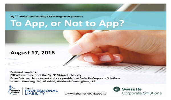 Risk Management Webinar:  To App or Not to App